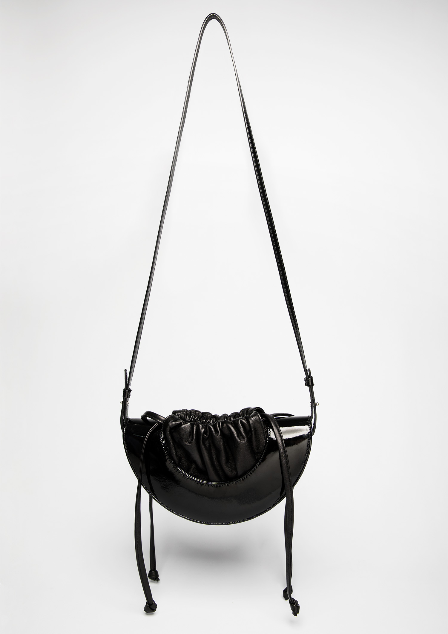 HALF MOON DRAWSTRING BLACK